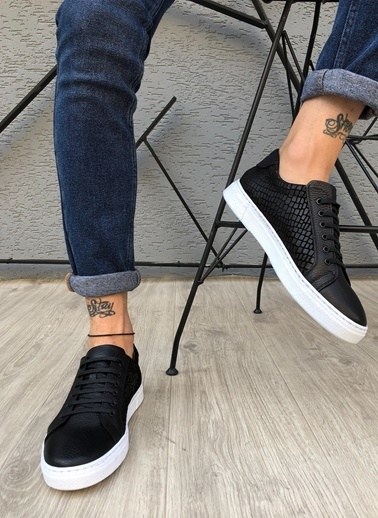 MARTINETTO Hakiki Deri  Sneakers Siyah